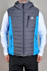 Жилет Adidas мужской серый с голубым