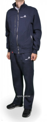 Зимний спортивный костюм Adidas мужской синий с карманами