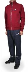 Зимний спортивный костюм Adidas черные штаны красная мастерка
