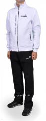Зимний спортивный костюм Adidas черный с белой мастеркой