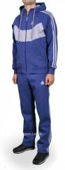 Зимний спортивный костюм Adidas голубой мужской