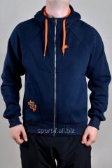 Спортивная кофта Nike зимняя мужская синяя на молнии