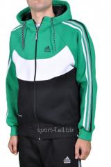 Спортивная кофта Adidas зимняя мужская зеленая на