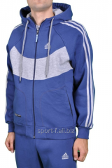 Спортивная кофта Adidas зимняя синяя мужская