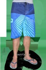Пляжные шорты Quiksilver голубые  мужские