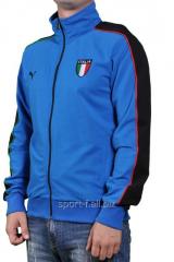 Мастерка Puma Italia голубая  на молнии