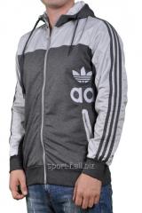 Мастерка Adidas серая мужская