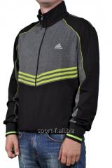 Мастерка Adidas черная на молнии