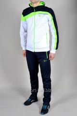 Спортивный костюм мужской  Nike бело-черный