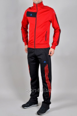 Спортивный костюм мужской  Adidas Predator красно-черный