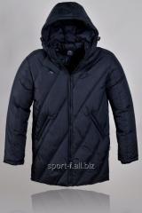 Куртка удлиненная  Adidas черная мужская