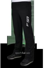 Брюки спортивные Adidas черные с белой надписью