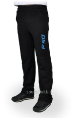 Брюки спортивные Adidas черные с надписью