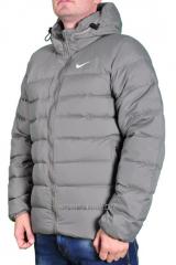 Пуховик Nike мужской серый