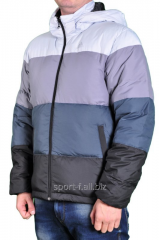 Adidas down-padded coat multi-colored man's