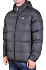Куртка Adidas мужская с капюшоном серая