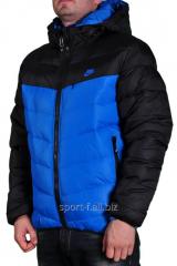 Куртка Nike черная с синим