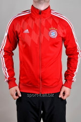Мастерка Adidas Bayern München красная на молнии