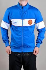 Мастерка Nike Manchester United синяя с белой полосой