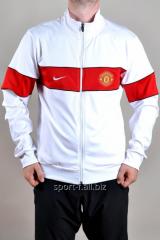 Мастерка Nike Manchester United белая с красной полосой