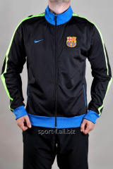 Trowel of Nike FC Barcelona black with blue cuffs