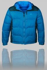 Куртка мужская дутая Adidas голубая