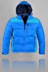 Куртка мужская голубая Adidas