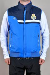Жилет Adidas Real Madrid мужской голубой