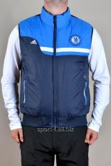 Жилет Adidas   Chelsea сине-голубой