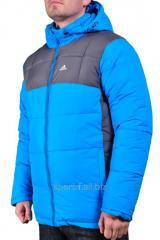 Куртка голубая Adidas мужская
