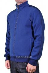 Спортивная кофта Adidas зимняя синяя на молнии