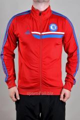 Мастерка Adidas Chelsea красная мужская на молнии