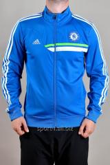 Мастерка Adidas Chelsea голубая