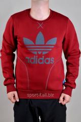 Спортивная кофта Adidas зимняя красного цвета