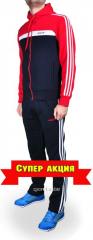 Зимний спортивный костюм Adidas черно-красный