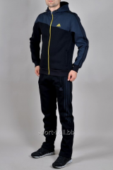 Зимний спортивный костюм Adidas мужской темно-синий