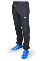 Зимние спортивные брюки на манжете Nike черные