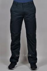 Зимние спортивные брюки Adidas черные мужские  на молнии