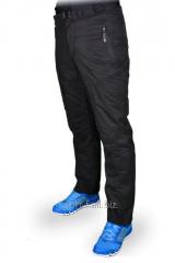 Зимние спортивные брюки Adidas черные с карманами