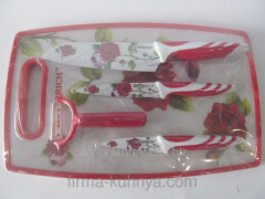 Set of knives 100 red