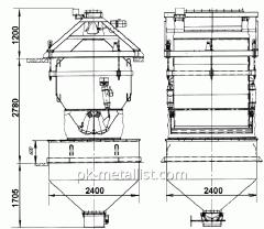 Дозатор весовой автоматический ДН-2000- 4Т с подвесовым бункером