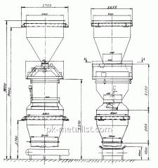Дозатор весовой автоматический ДН-4000 с надвесовым и подвесовым бункерами