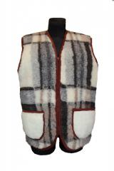 Vest from sheep wool