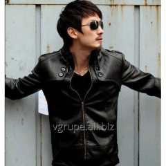 Men's leather jacket fall - spring, an