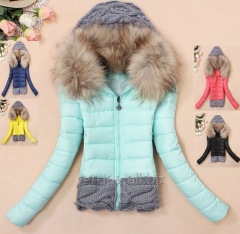 Female down-padded coat Knitting, women's
