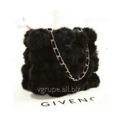 Bag from natural fur of a rabbi