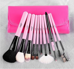 Professional brushes of 11 pieces.