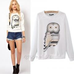 Женский пуловер, женский пуловер сова, жіноча