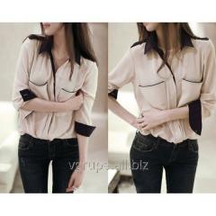 Women's shirt, chiffon blouse with a long
