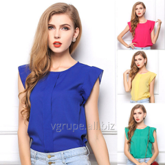 Chiffon blouse without sleeves, a women's